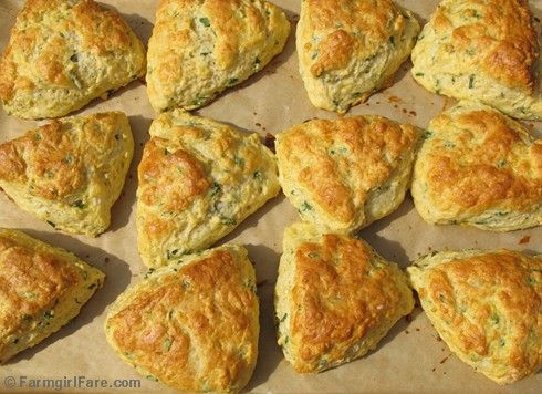 Easy Savory Chive and Sharp Cheddar Cheese Scone Recipe from Farmgirl ...