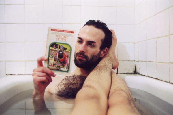 Pin by bill vasil on bathtub bath tub bathing handsome for Tumblr mens bathroom