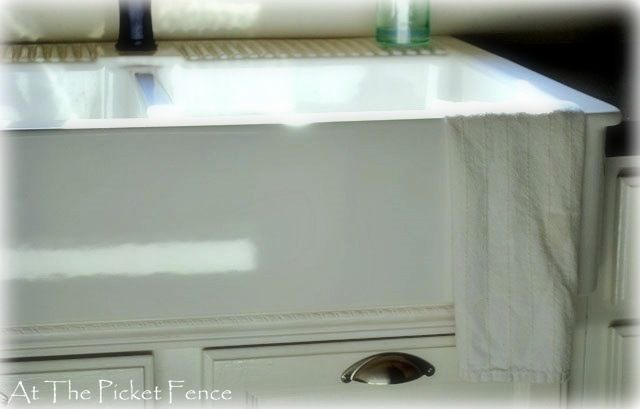 my tutorial on installing Ikea farmhouse sink in existing cabinet