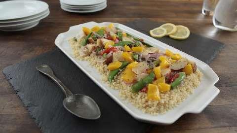 Garden Vegetables with Lemon-Scented Quinoa Allrecipes.com
