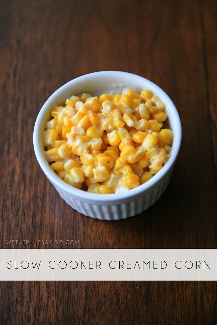 Slow Cooker Creamed Corn | Orgasm In My Mouth | Pinterest