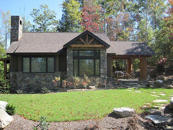 Cabin cottage craftsman house plan 43204 for Craftsman cabin house plans