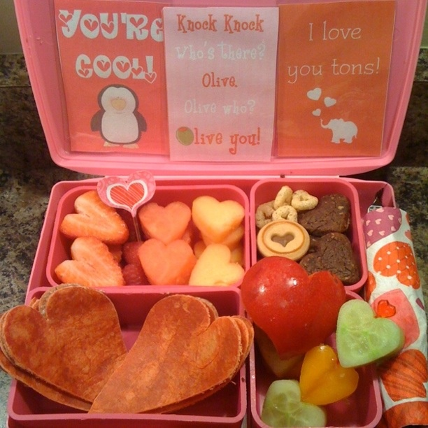 valentine's day snacks preschool