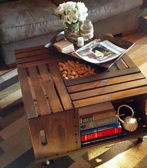 mesa de caixotes