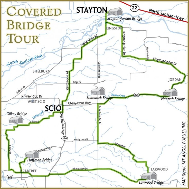 Covered Bridge Tour Step By Step Driving Or Cycling