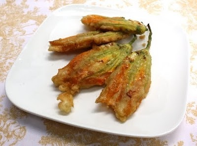 Crisp and delicious stuffed Fried Zucchini Blossoms