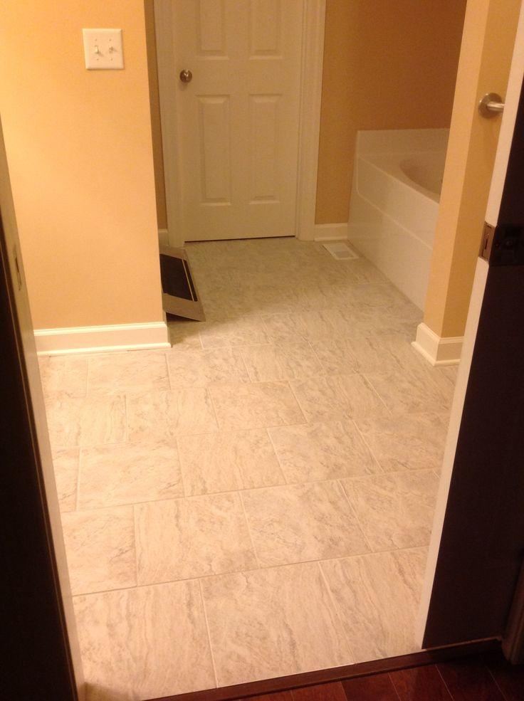 12 X 12 Tile Floor Bathroom Tile Pinterest