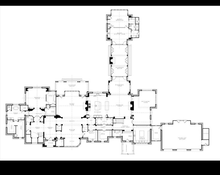 21 beautiful english manor floor plans home plans for Manor blueprints