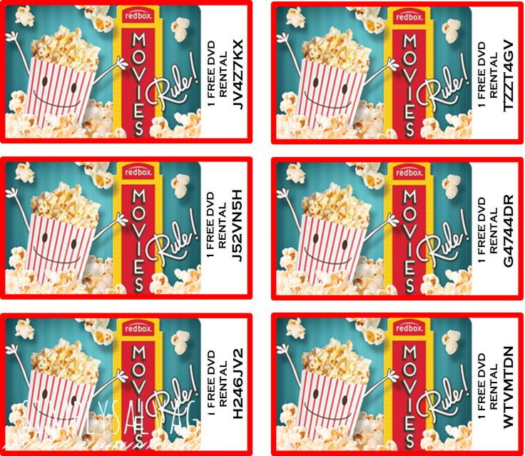It's just a photo of Bright Redbox Printable Gift Certificate
