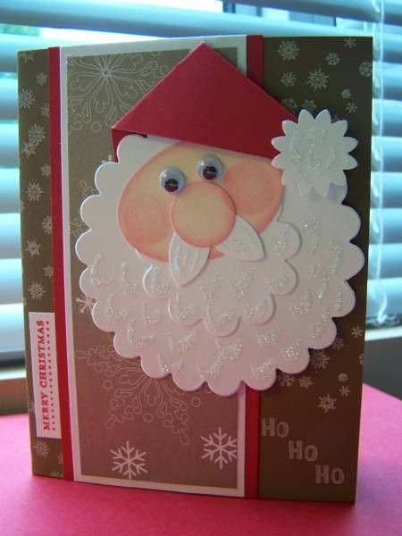 Santa card made with punches