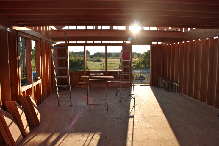 Main floor without interior walls. Looking west. (August 2012) THE small HOUSE CATALOG
