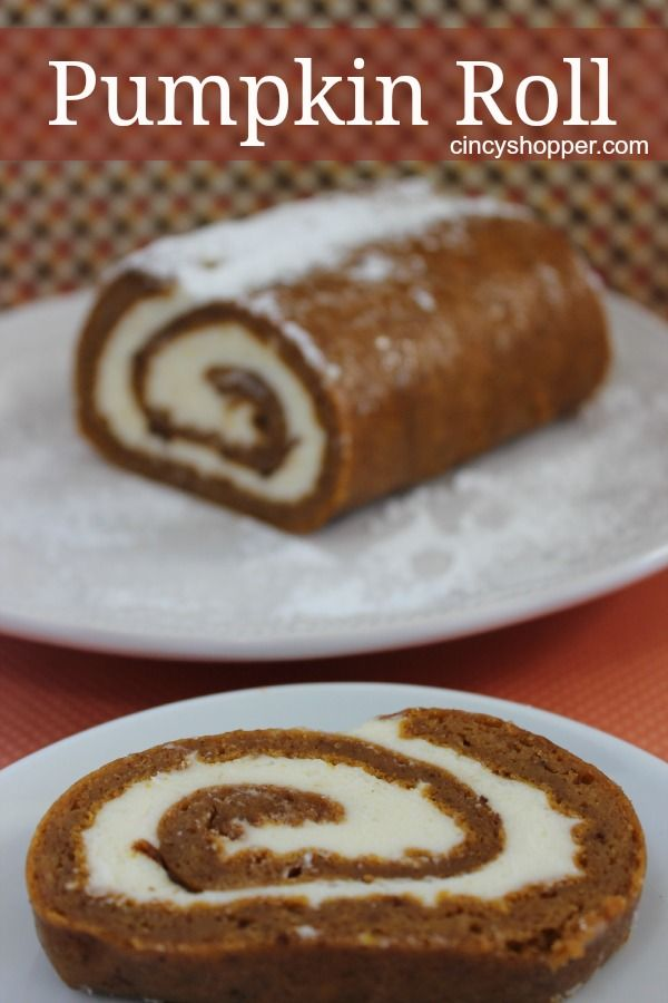 Pumpkin Roll Recipe. One of my favorite fall desserts. YUM! No need to ...