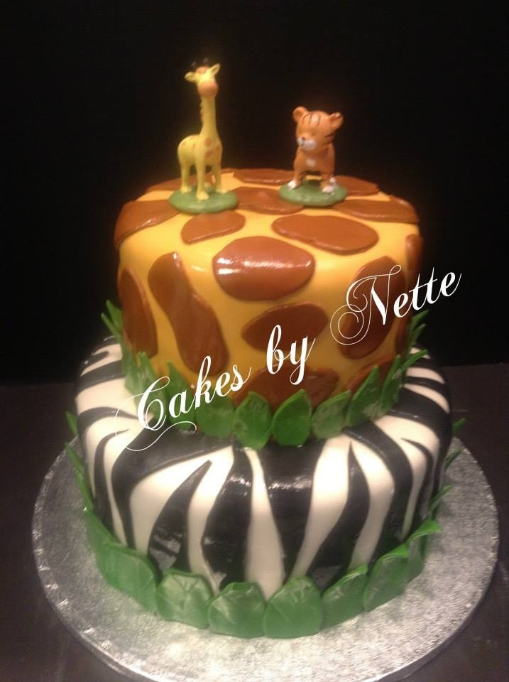 Jungle Baby Shower Cake, Cakes By Nette, St. Louis,MO