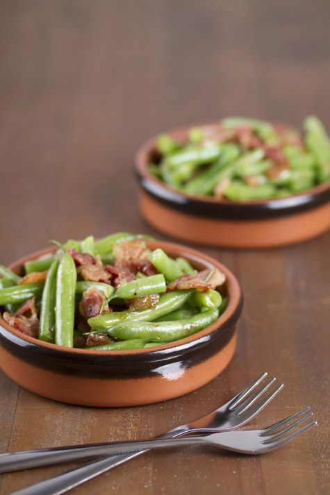 warm green bean, bacon & maple salad. | Yumminess - Sides | Pinterest