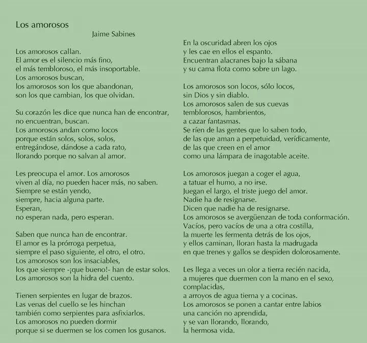 Jaime Sabines Poemas