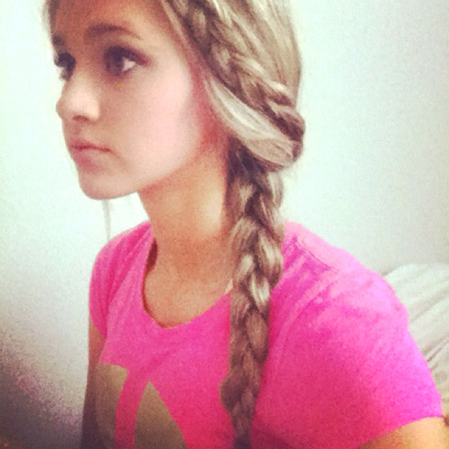 Braided into a braid! So cute and easy to do!