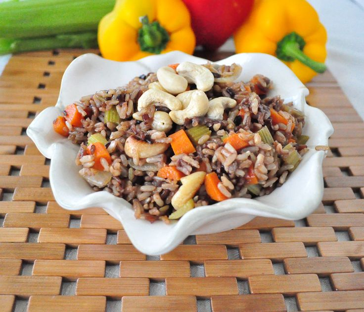 wild fried rice with cashews, that will make everyone wild