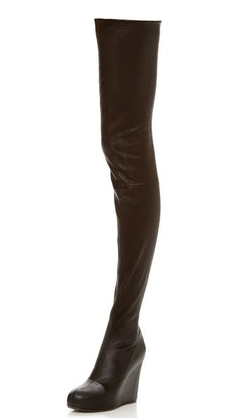 thigh high wedge boots