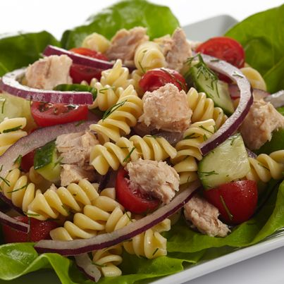 Dilled Salmon Pasta Salad | #chickenofthesea #salmon #pasta #salad # ...