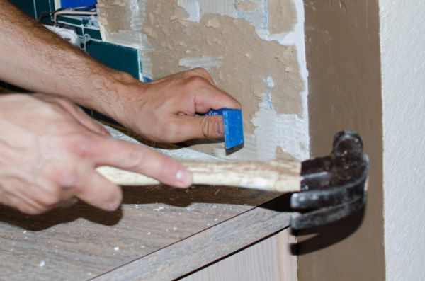 kitchen backsplash removal and prep for the home home improvement