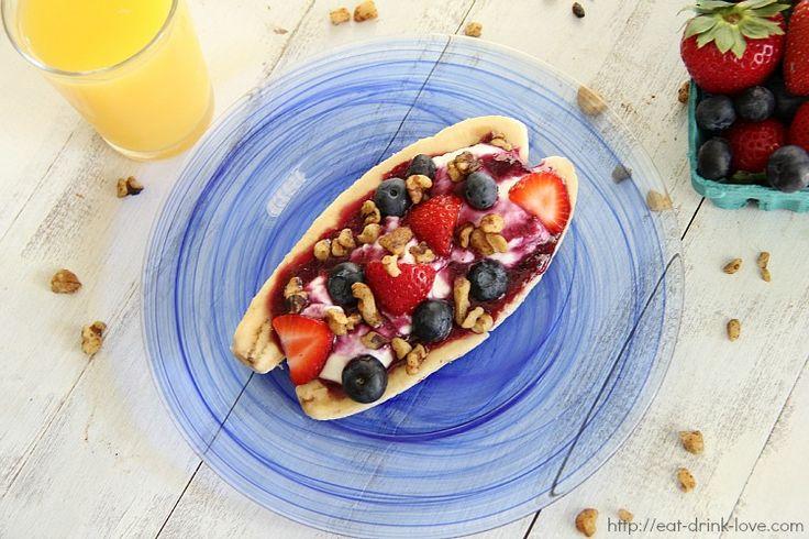 Breakfast Banana Split | 1st Meal | Pinterest