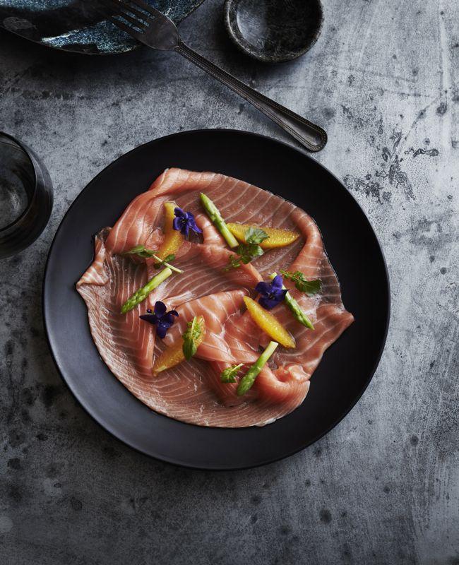 Cured salmon with asparagus and orange - James Kidman's Renaissance ...