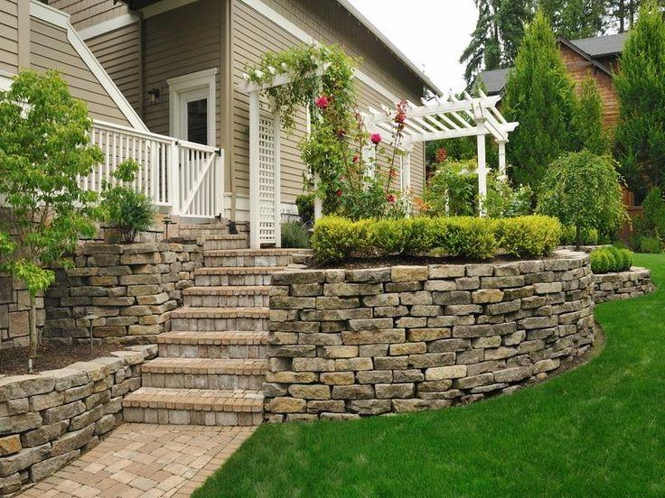Pin by robin d on house ideas pinterest for Garden block wall ideas