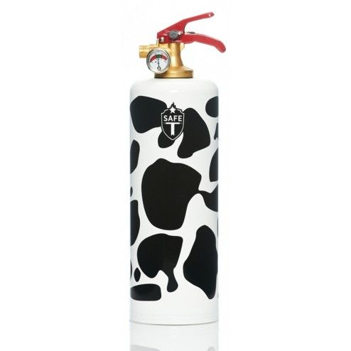 Dnc tag safe t design fire extinguisher cow white