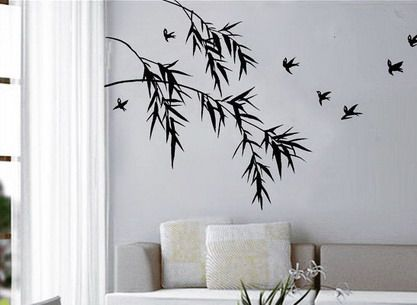 Birds Bamboo Oriental Wall Stickers Art on the Walls