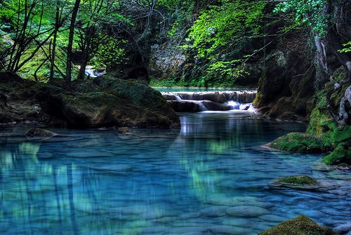 Turquoise River, Navarre, Spain