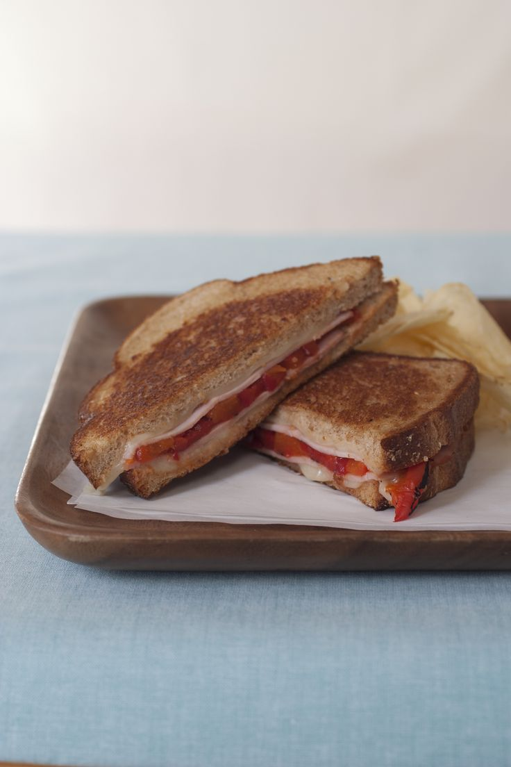 Grilled Roasted Pepper, Ham and Cheese Sandwiches - Read More at ...