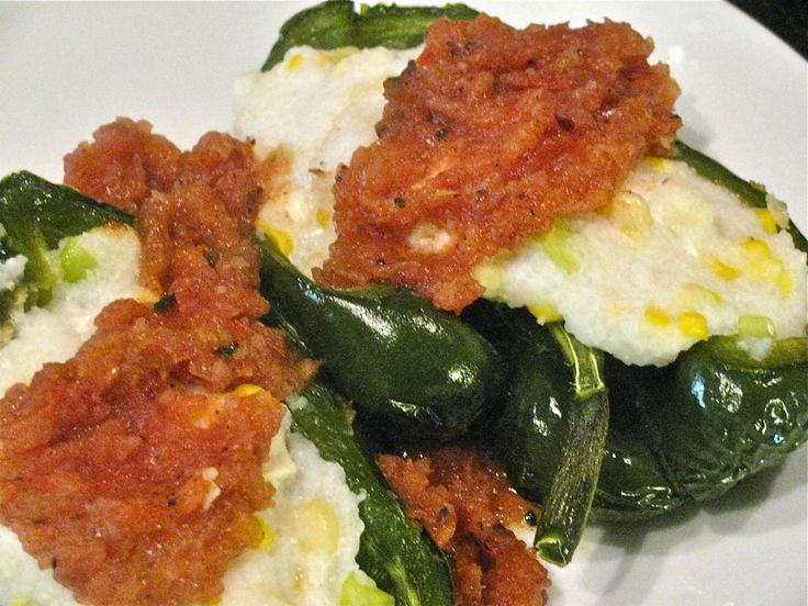 Polenta & Cheese Stuffed Poblano Peppers | Low Fat/Healthy Recipes ...