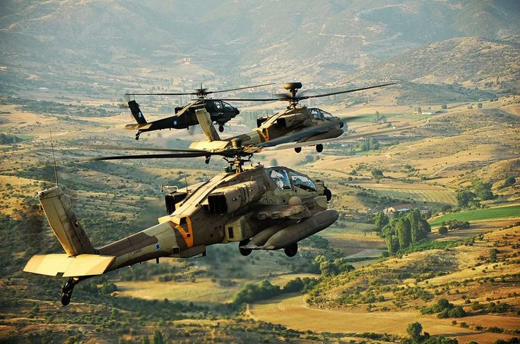 Apache helicopters.