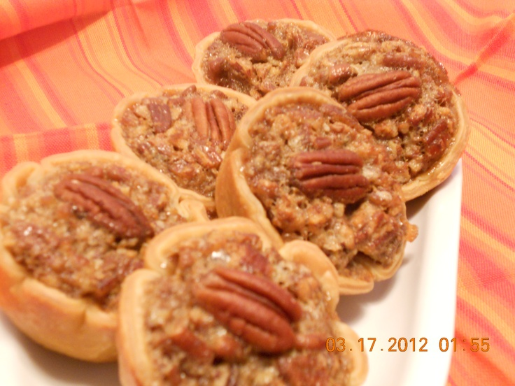 Mini Pecan Pie cups - low fat/calorie recipe! Delicious! Store bought ...