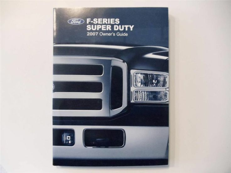 2007 ford f series super duty owners manual book. Black Bedroom Furniture Sets. Home Design Ideas