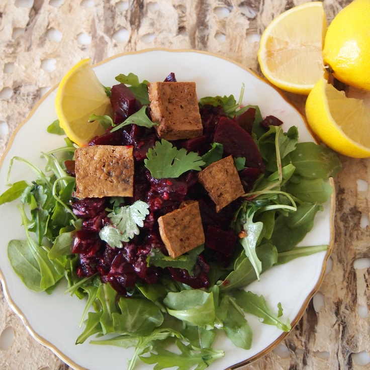 Spicy Beet and Chipotle Salad with Tofu | Salads | Pinterest