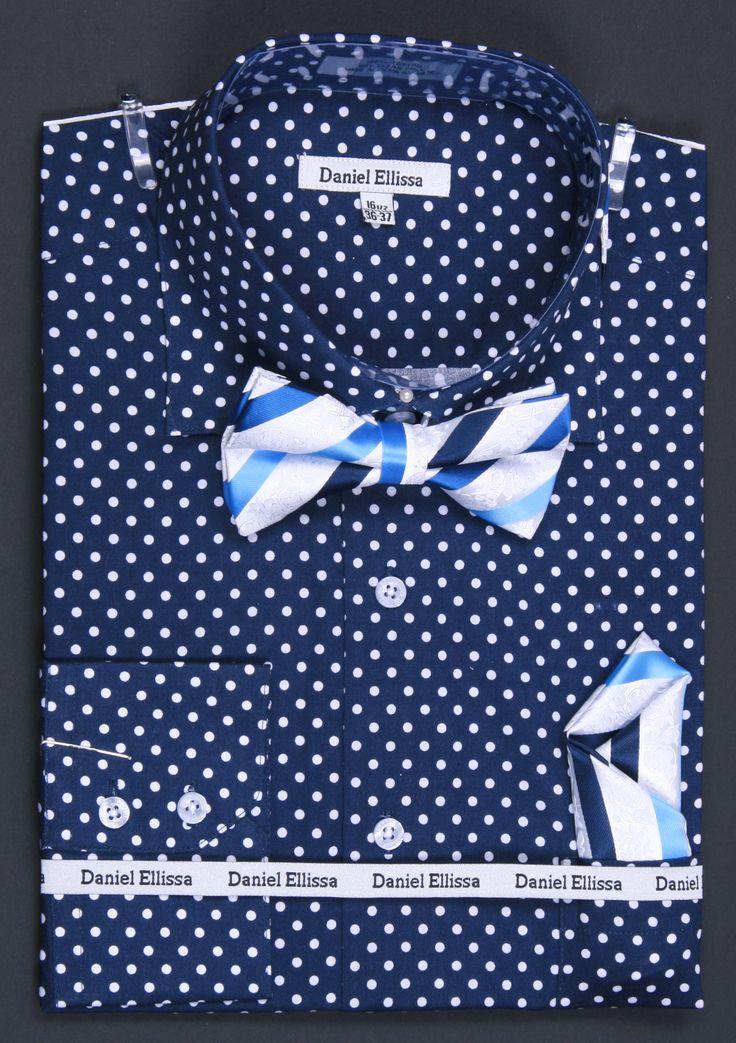 Men 39 S Polka Dot Shirt With Bow Tie Men 39 S Fashion Pinterest