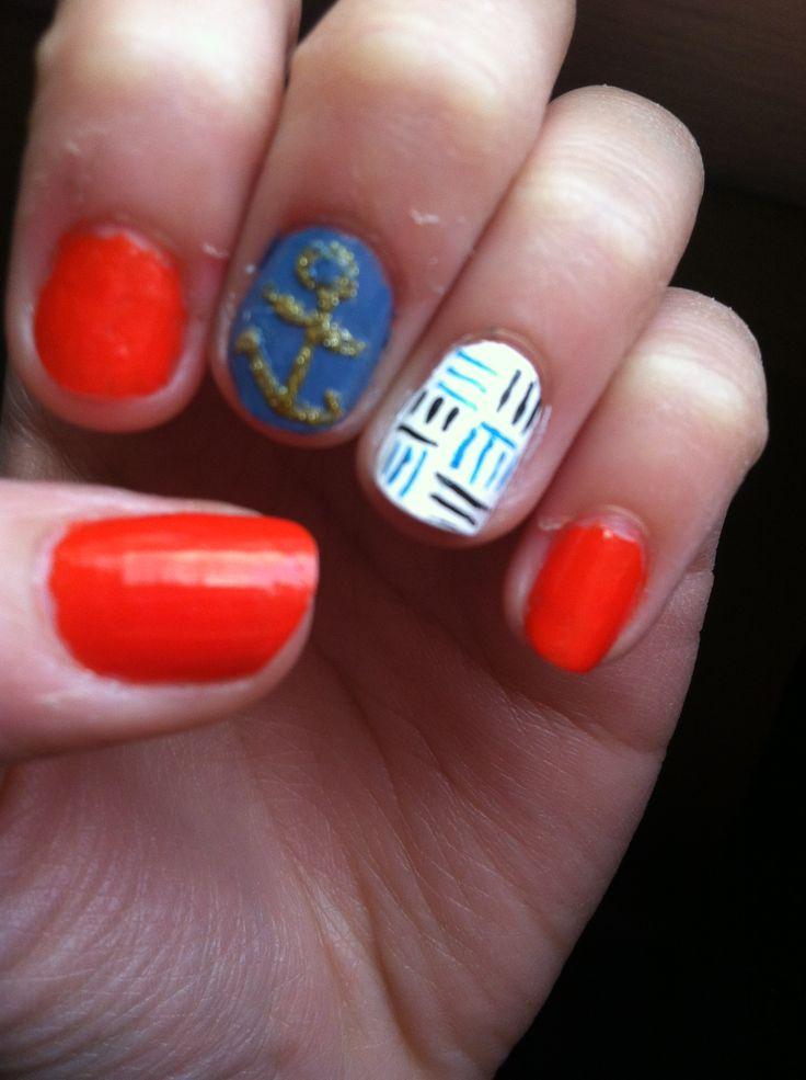 Cute Nail Designs With Anchors Anchor Nail Designs