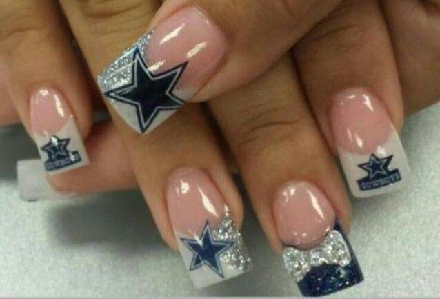 Dallas cowboy Nails | Nails | Pinterest
