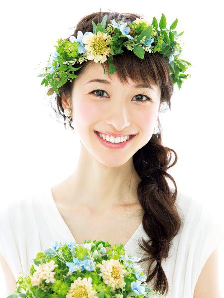 花嫁 髪型 花嫁 髪型 花冠 画像 : fairdink.com