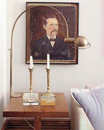 Brass Desk Mounted Lamp by Visual Comfort