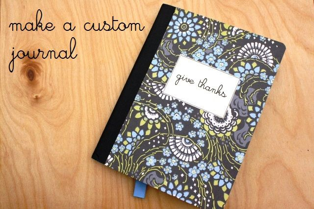How to Make a Custom Thanksgiving Journal | Life as MOM - simple and easy gift to give or tradition to start. Record your blessings for posterity.