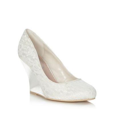 Ivory High Wedge Heeled Lace Court Shoes Foot Locker Pinterest
