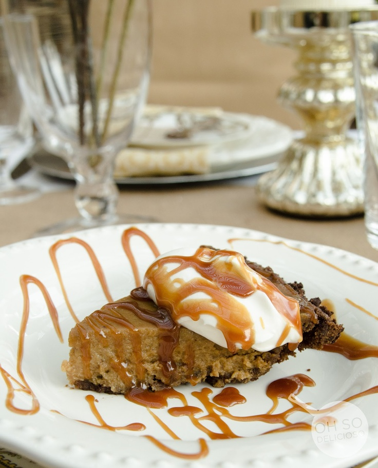 ... Pie with Chocolate Gingersnap Crust and Salted Dark Caramel Sauce