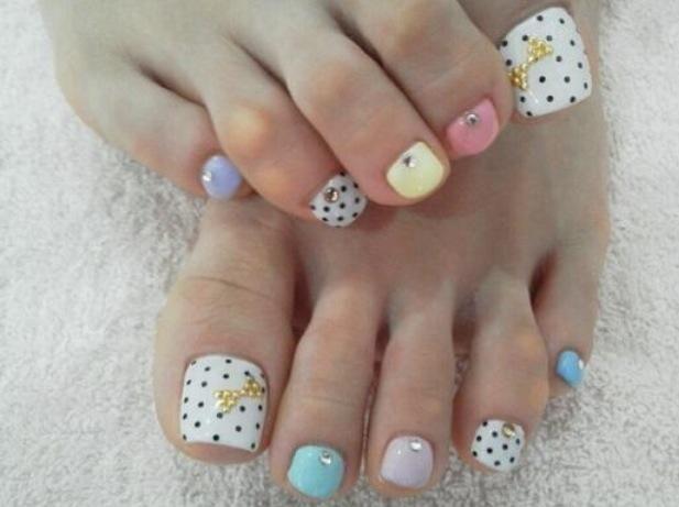 Summer Pedicure Nail Art | Nails art | Pinterest