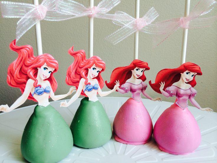 Little Mermaid Cake Pops