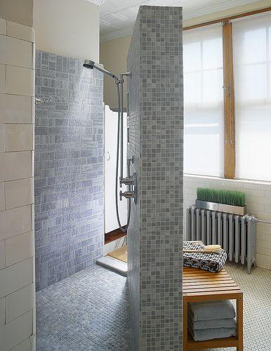 Corner Doorless Shower | For the Home | Pinterest