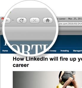 Comparte páginas web con tu red profesional y grupos directamente desde tu navegador, incluso si no has abierto la página de LinkedIn.    Arrastra el botón de la página a la barra de herramientas del navegador para instalar la aplicación.