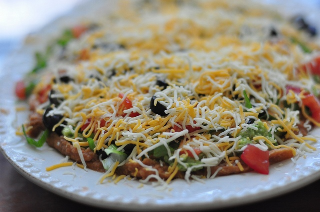 One of my favorite dips - seven layer taco dip:)