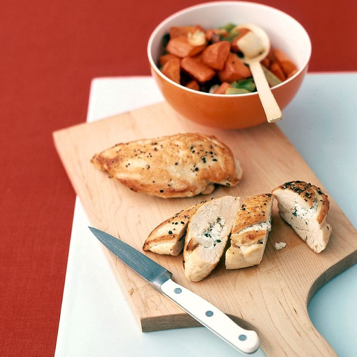 Chicken with Feta Cheese | Feta cheese has a rich, tangy taste ...